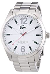 Lacoste 2010697 Mens White and Silver Montreal Watch