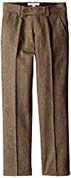 Isaac Mizrahi Big Boys' Slim Big Boys' Wool-Blend Tweed Pant