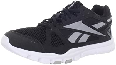 Reebok Men's YourFlex Train 2.0 Cross-Training Shoe,Black/Tin Grey/White,8.5 M US