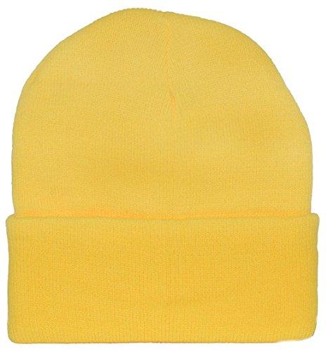 Yellow Knit Cap Beanie / Minion Yellow