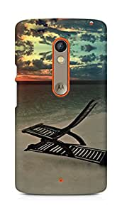 Amez designer printed 3d premium high quality back case cover for Motorola Moto X Play (Evening chill)