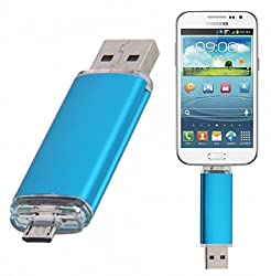 8GB Fashionable OTG USB Flash Drive for Smart Phones Tablet PCs Blue