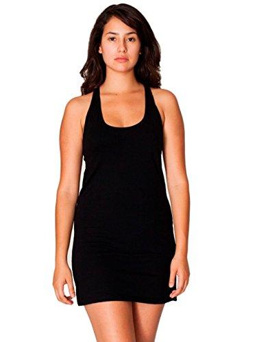 American Apparel Women's Fine Jersey Racerback Tank Dress, Black, X-Small