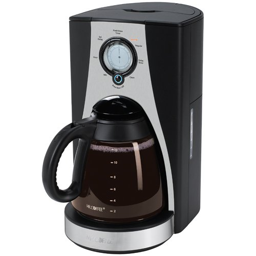 Mr. Coffee LMX27 12-Cup Programmable Coffeemaker, Stainless Steel