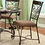 Montana Side Chair In Antique Iron Finish by Standard Furniture