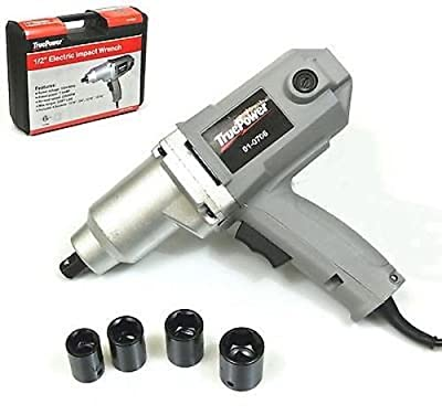 "1/2"" Electric Impact Wrench - 230 Ft. Lbs. Sockets & Storage Case Included"