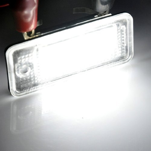 Newsun Error Free 18Smd Xenon White Led Number License Plate Lamp Tail Light Bulb For Audi A3 S3 A4 S4 A6 S6 A8 S8 Q7 Rs4 Rs6 B6 B7