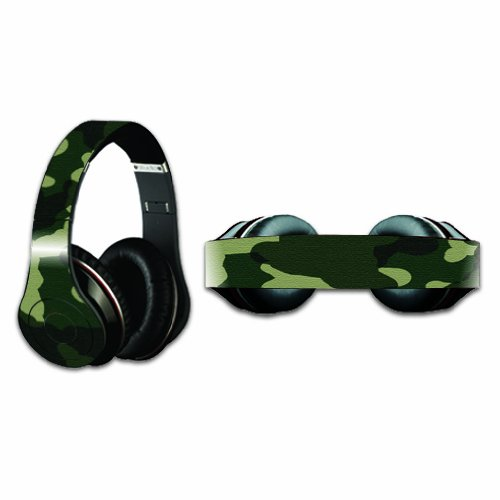 Mightyskins Protective Vinyl Skin Decal Cover For Dr. Dre Beats Studio Headphones Sticker Skins Green Camo
