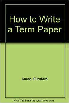 Books on how to write a term paper