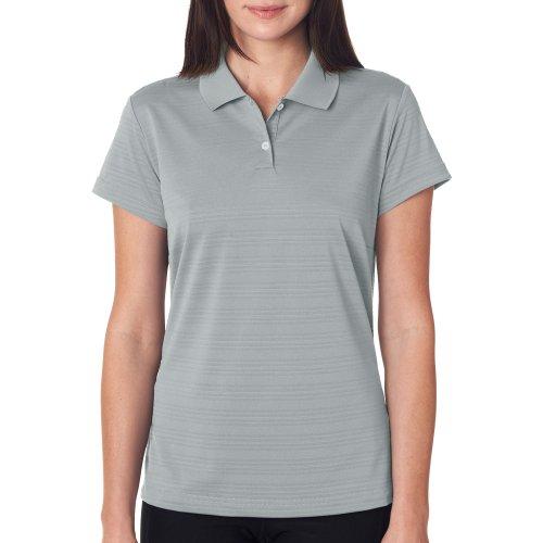 Adidas Golf Ladies' Climalite� Textured Short-Sleeve Polo - Ash - L