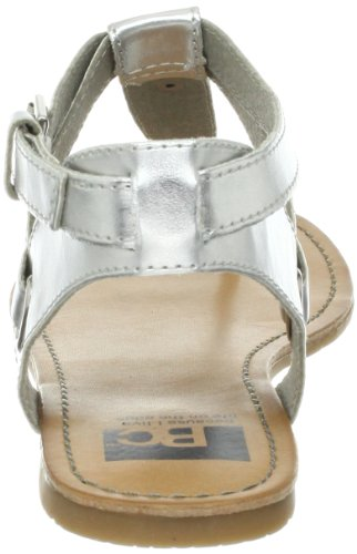 BC Footwear Women's Would If I Could Thong Sandal,Silver,7.5 M US