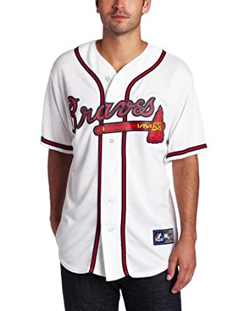 MLB Atlanta Braves Brian McCann White Home Replica Baseball Jersey, White by Majestic
