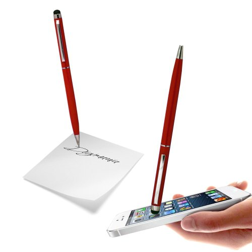 Red High Sensitive Capacitive Dual Function Touch & Write Stylus Pen For SAMSUNG GALAXY NOTE2/NOTE/S4/S3 S3/MINI/S2/S/NOTE3 Mobile Cellular Phone