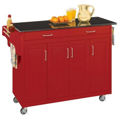 Buy low price home styles dolly madison island cart ho1408 kitchen furniture bargain - Cheap kitchen island cart ...