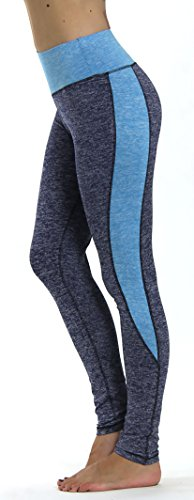 Prolific Health Yoga Pants Fitness Flex Power Leggings - All Colors - S - L (Medium, Denim/Blue)