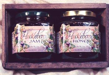Wild Huckleberry Jam & Honey Gift Crate