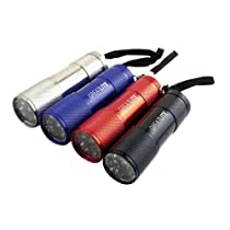 GreatLite 32845 9 LED Aluminum FlashLight in Display, Mini