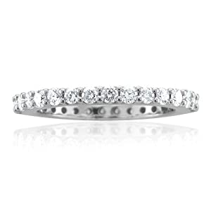 14k White Gold Diamond Eternity Band (GH, SI3-I1, 1.00 carat)