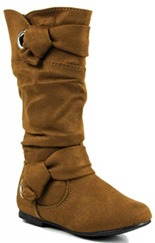 Kali Footwear Little Girl'S Lucy Jr. Knotted Bow Boots 3