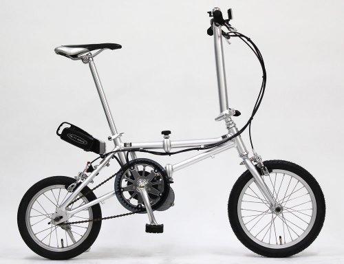 電動アシスト折りたたみ自転車YS-22ハイブリッド 重量 13.5kg(前16インチ 後14インチ)