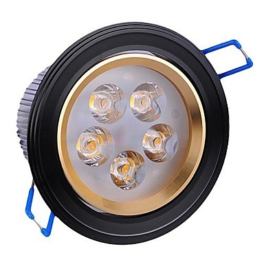 5W Led Black Ceiling Light With 5 Leds Driver Included