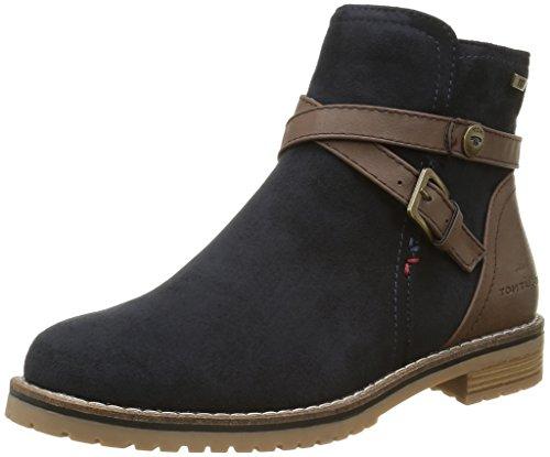 Tom Tailor1693605 - Stivali classici alla caviglia Donna , Blu (Blu (Navy)), 40