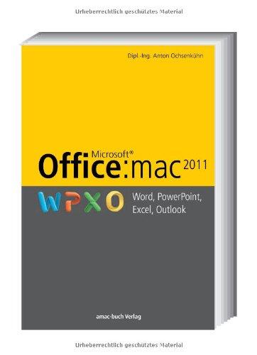Office:mac 2011 - Word, Excel, PowerPoint, Outlook