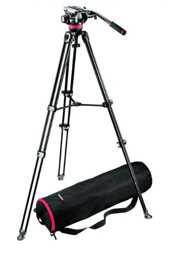 Manfrotto MVT502AM Video Tripod with Telescopic Twin Legs (Black)