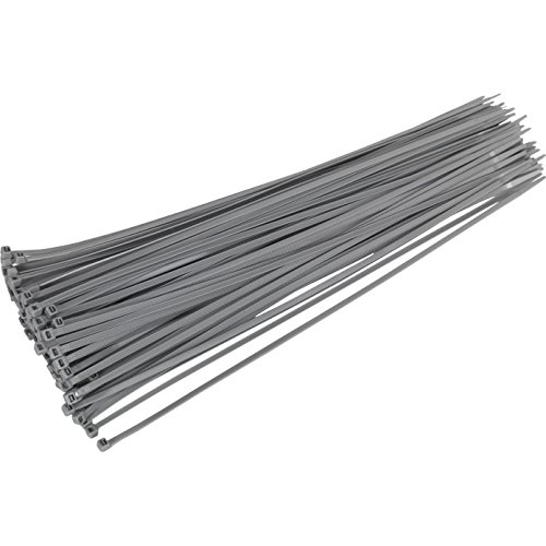 Sealey CT38048P100S Cable Ties, 380 x 4.8 mm, Silver, Set of 100