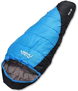 Andes Pichu 300 2-3 Season Childrens/Kids Camping Sleeping Bag Blue/Black