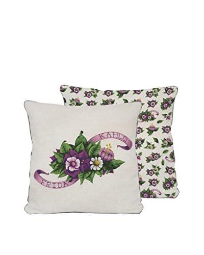 ReallyNiceThings Cojín Purple Flowers