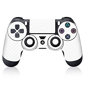 iCarbons White Carbon Fiber Vinyl Skin for PS4 Dualshock Controller Sony Playstation