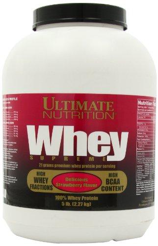 ULTIMATE NUTRITION WHEY SUPREME, Delicious STRAWBERRY 5LB, Tub
