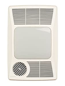 Broan 100HL Directionally-Adjustable Bath Fan with Heater and Incandescent Light