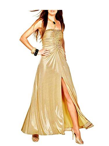 Unbekannt APART Damen-Kleid Abendkleid Gold Größe 19 (38)