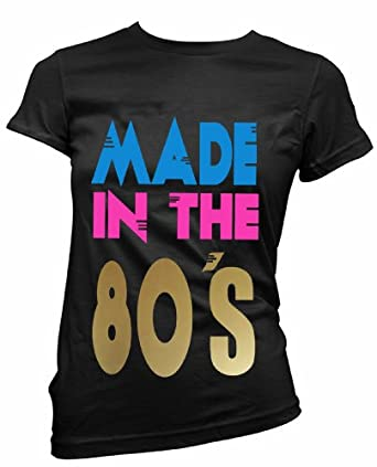 """FREE POST,ladies fitted t shirt """"MADE IN THE 80`s"""" fancy dress (S)"""