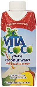 Vita Coco Coconut Water, Peach & Mango, 11.1 Ounce (Pack of 12)