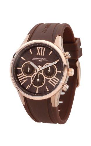 Jorg Gray JG1500-21 - Reloj analógico de cuarzo para mujer, correa de goma color marrón