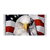 Beach Towel Bald Eagle on US American Flag from Royal Lion