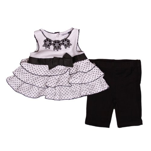 Vitamins Kids Girls Polka Dot 2-Piece Tunic And Pant Set (6 Months)