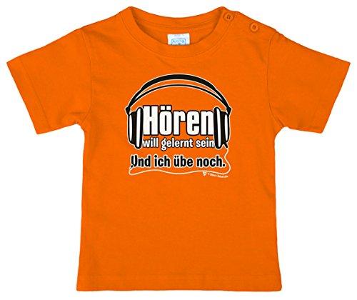 Lustiges Kinder T Shirt mit Spruch - Hören will gelernt sein und ich übe noch daran (122 / 128)