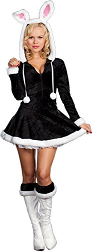 Dreamgirl Womens Hip To The Hoppity Bunny Rabbit Outfit Fancy Dress Sexy Costume