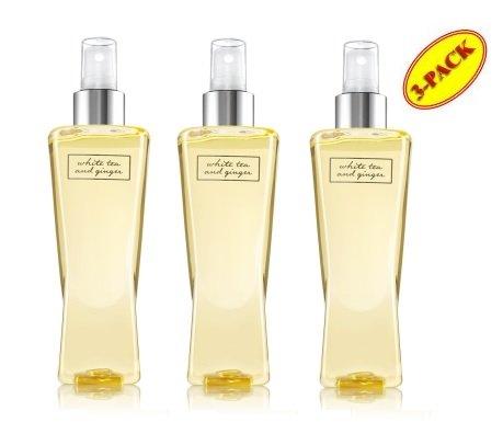 Bath And Body Works White Tea & Ginger Fragrance Mist Gift Set Lot Of 3 Bottles Full Size