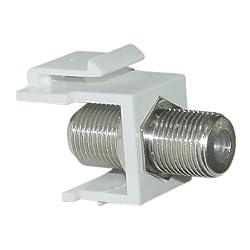 F-Pin (Coax) Connector Keystone Module, White