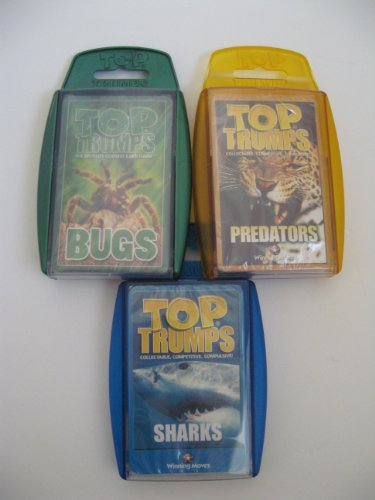 Top Trumps - Scary Pack - 3 pack with Bugs, Predators and Sharks (Top Trumps Sharks compare prices)