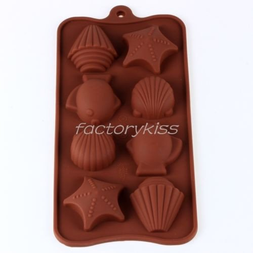 Shell Starfish Silicone Muffin Chocolate Candy Cake Jelly Mold Baking Mold Silicone Mold front-434570