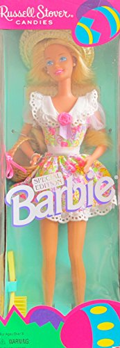 russel-stover-candies-barbie-doll-special-edition-w-straw-hat-easter-basket-more-1995