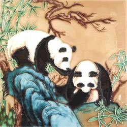 Panda Decorative Ceramic Wall Art Tile 4x4