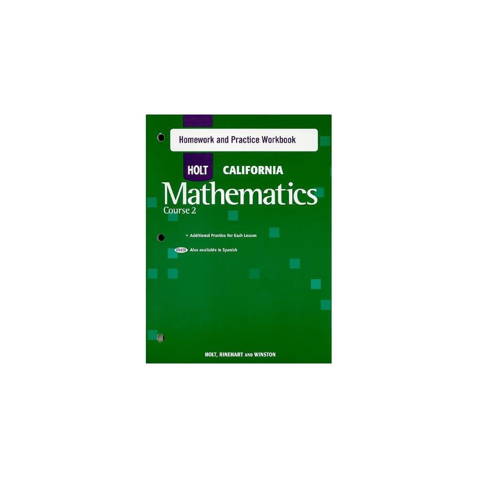Holt mathematics course 1 homework help
