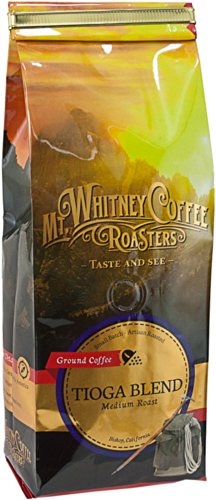 Mt. Whitney Coffee Roasters: 12 Oz, Medium Roast, Tioga Blend, Ground Coffee